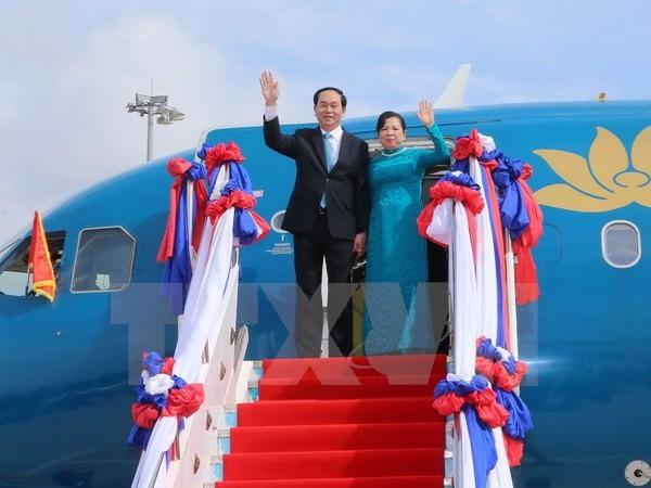 Chủ tịch nước Trần Đại Quang hội đàm với Chủ tịch nước Lào - ảnh 1