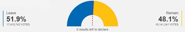 Người dân Anh chọn rời EU - ảnh 1