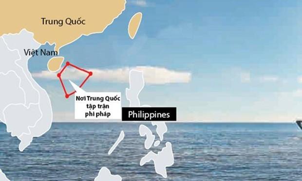 Trung Quốc huy động ba hạm đội tập trận trái phép ở Hoàng Sa - ảnh 1