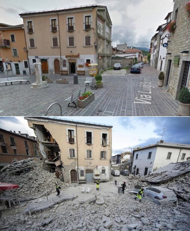 Hình ảnh đối lập của thị trấn Italy trước và sau động đất - ảnh 4