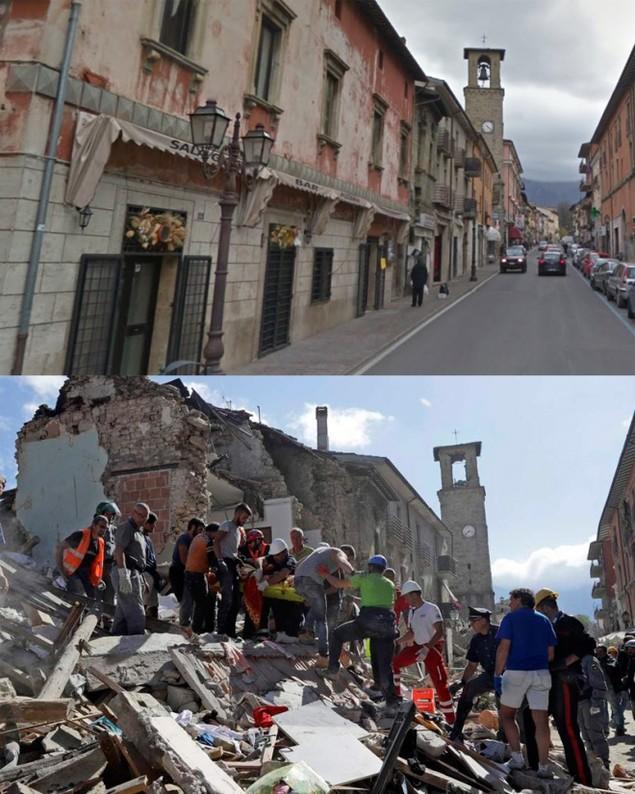 Hình ảnh đối lập của thị trấn Italy trước và sau động đất - ảnh 5