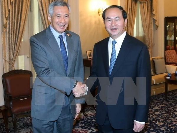 Tuyên bố báo chí Việt Nam-Singapore về chuyến thăm của Chủ tịch nước - ảnh 1