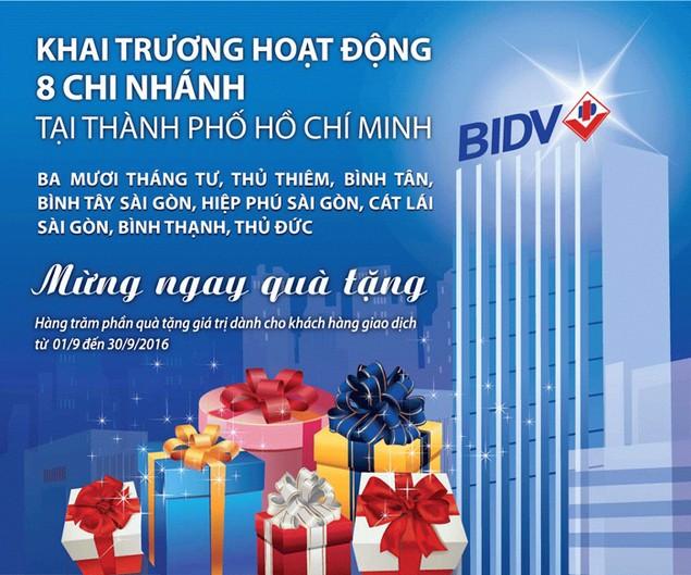 BIDV khai trương 8 chi nhánh mới tại TP.HCM - ảnh 1