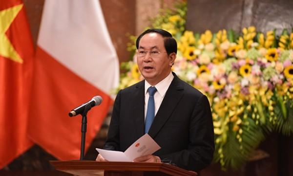 Chủ tịch nước: Chuyến thăm của Tổng thống Pháp tạo xung lực cho quan hệ hai nước - ảnh 1