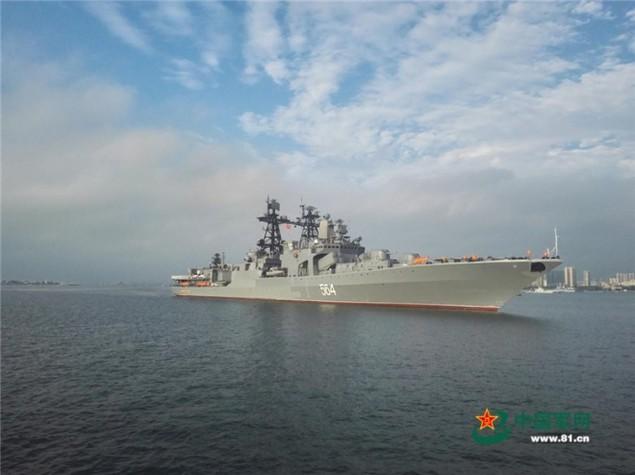 Tàu Nga cập cảng Trung Quốc, chuẩn bị tập trận ở Biển Đông - ảnh 1