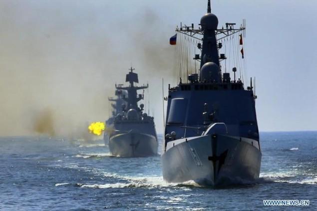 Tàu chiến Nga - Trung tập trận nã pháo ở Biển Đông - ảnh 2