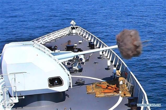 Tàu chiến Nga - Trung tập trận nã pháo ở Biển Đông - ảnh 3
