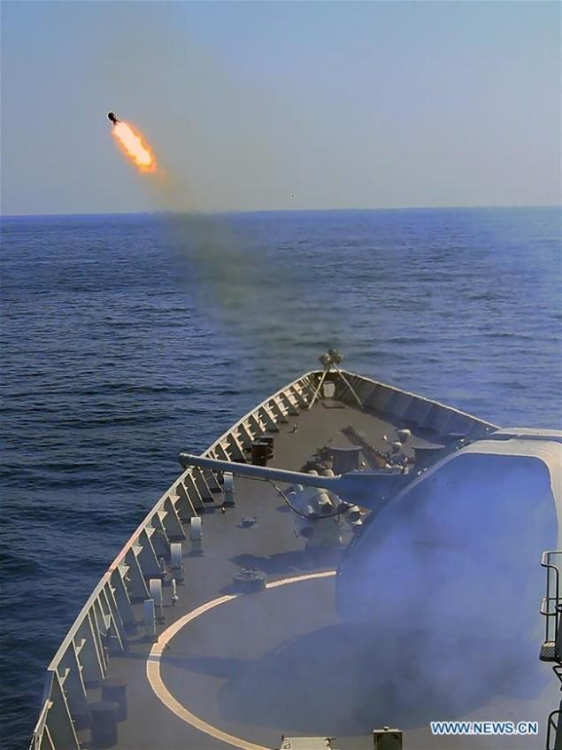 Tàu chiến Nga - Trung tập trận nã pháo ở Biển Đông - ảnh 5
