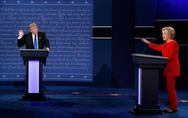 Trump và Clinton lần đầu tranh luận trực tiếp - ảnh 1