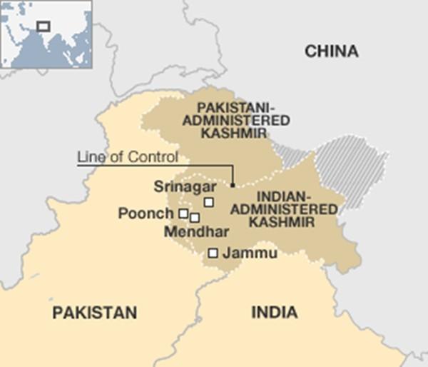 Tấn công ở biên giới Ấn Độ - Pakistan, hai binh sĩ thiệt mạng - ảnh 1