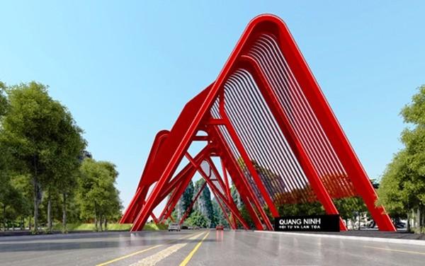 Quảng Ninh: Cổng chào gần 200 tỷ đảm bảo 'uy nghi, khác biệt' - ảnh 1
