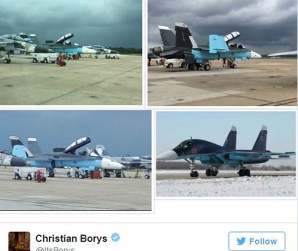 Tiêm kích Mỹ sơn màu giống máy bay Nga ở Syria gây tranh cãi - ảnh 1