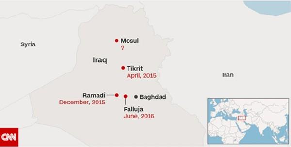 Iraq bắt đầu chiến dịch đánh đuổi IS khỏi Mosul - ảnh 1