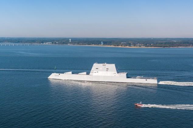 Tàu khu trục tàng hình Mỹ được chào đón ở căn cứ mới - ảnh 8