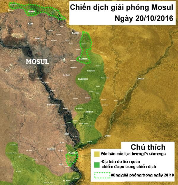 Chiến dịch diệt IS ở Mosul diễn ra nhanh hơn dự kiến - ảnh 1