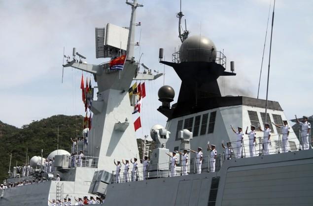 3 chiến hạm Hải quân Trung Quốc cập cảng Cam Ranh - ảnh 2