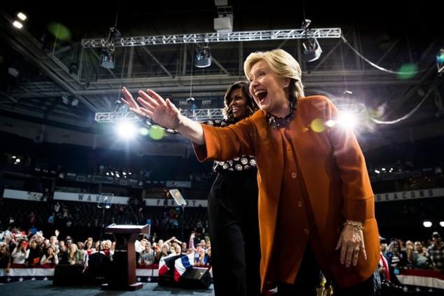 Những khoảnh khắc ấn tượng trong mùa bầu cử tổng thống Mỹ - ảnh 11
