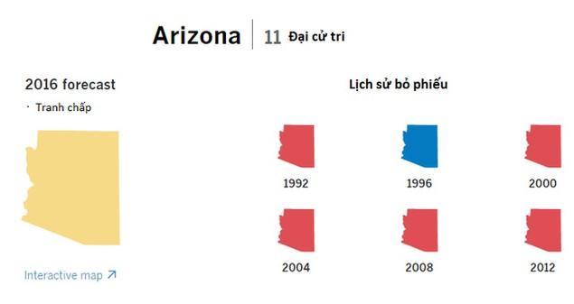 Cục diện bầu cử tổng thống Mỹ qua các bang chiến trường - ảnh 9