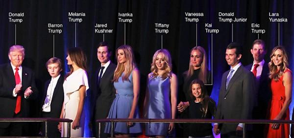 Đại gia đình Donald Trump trong đêm đắc cử - ảnh 1