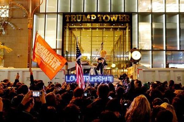 Người phản đối Trump ví ngày bầu cử 9/11 với thảm kịch khủng bố 11/9 - ảnh 2