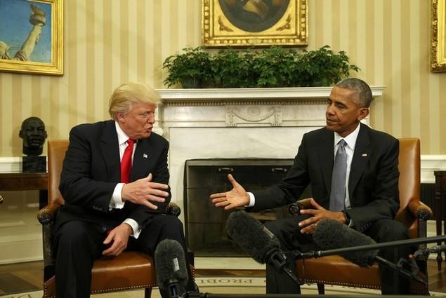 Ông Donald Trump lần đầu tới Nhà Trắng gặp Tổng thống Obama - ảnh 1