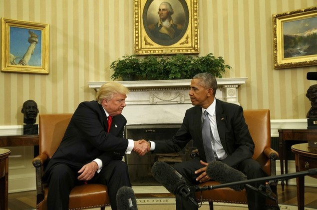 Ông Donald Trump lần đầu tới Nhà Trắng gặp Tổng thống Obama - ảnh 2