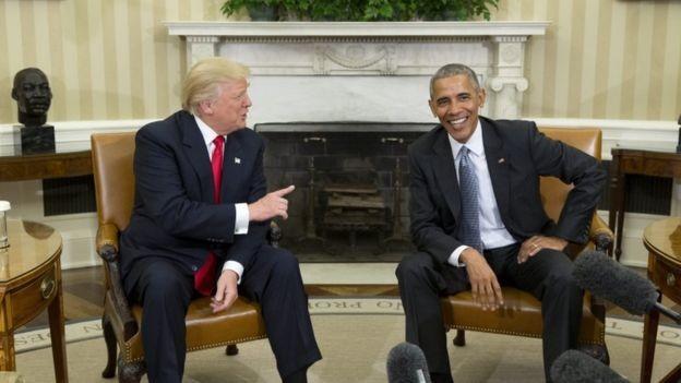 Ông Donald Trump lần đầu tới Nhà Trắng gặp Tổng thống Obama - ảnh 3