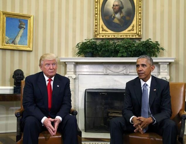 Ông Donald Trump lần đầu tới Nhà Trắng gặp Tổng thống Obama - ảnh 4