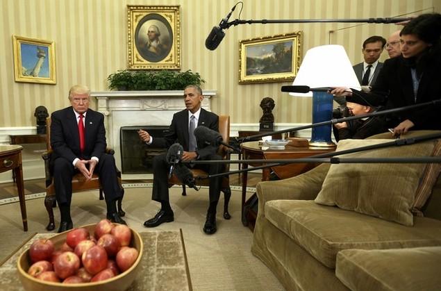 Ông Donald Trump lần đầu tới Nhà Trắng gặp Tổng thống Obama - ảnh 5