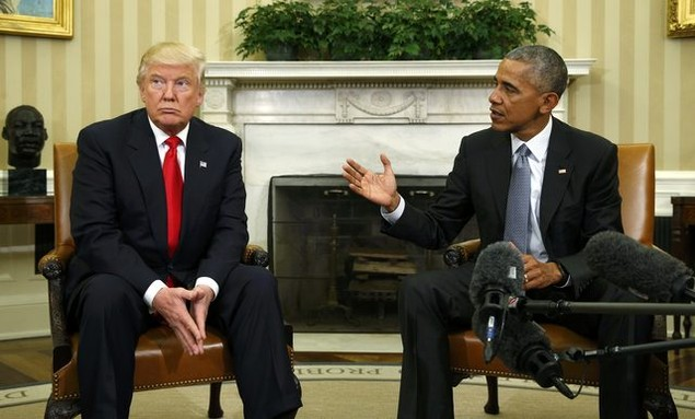 Ông Donald Trump lần đầu tới Nhà Trắng gặp Tổng thống Obama - ảnh 6