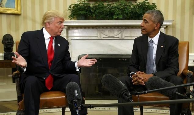 Ông Donald Trump lần đầu tới Nhà Trắng gặp Tổng thống Obama - ảnh 7