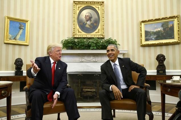 Ông Donald Trump lần đầu tới Nhà Trắng gặp Tổng thống Obama - ảnh 8