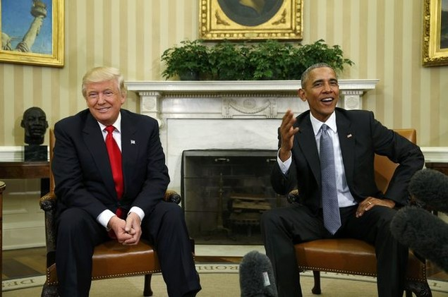 Ông Donald Trump lần đầu tới Nhà Trắng gặp Tổng thống Obama - ảnh 9
