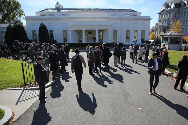 Ông Donald Trump lần đầu tới Nhà Trắng gặp Tổng thống Obama - ảnh 11