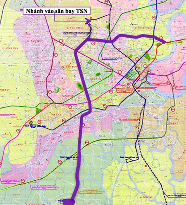 250 triệu USD xây tuyến metro vào sân bay Tân Sơn Nhất - ảnh 1