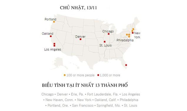 Biểu tình phản đối ông Trump đã bùng phát tại ít nhất 50 thành phố Mỹ - ảnh 1