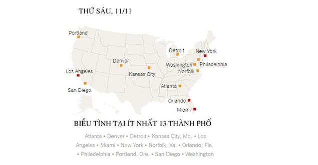 Biểu tình phản đối ông Trump đã bùng phát tại ít nhất 50 thành phố Mỹ - ảnh 6