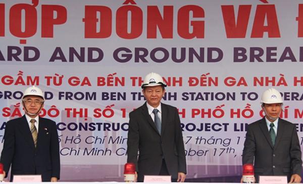 TP HCM khởi công ga ngầm Bến Thành - ảnh 1