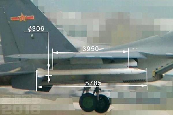 Tiêm kích Trung Quốc gắn tên lửa lớn bất thường - ảnh 1