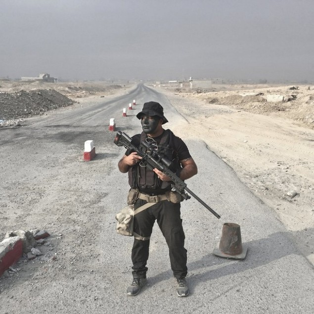 Những sắc áo chiến binh trong lực lượng giải phóng Mosul - ảnh 2