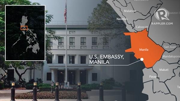 Phát hiện vật thể nghi là bom gần đại sứ quán Mỹ ở Philippines - ảnh 1