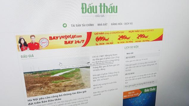 Hà Nội yêu cầu công bố thông tin đấu giá đất trên Báo Đấu thầu - ảnh 1