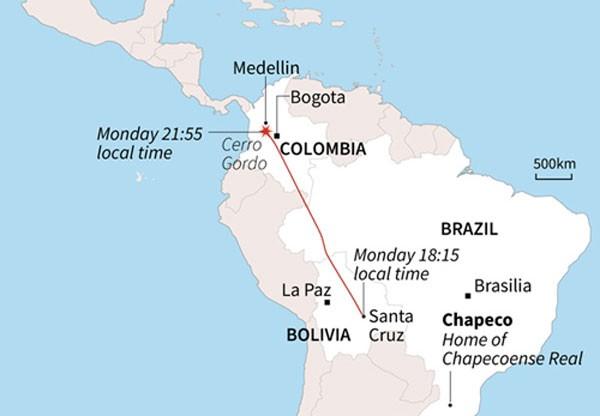 Colombia khẳng định máy bay chở 77 người rơi do cạn nhiên liệu - ảnh 1