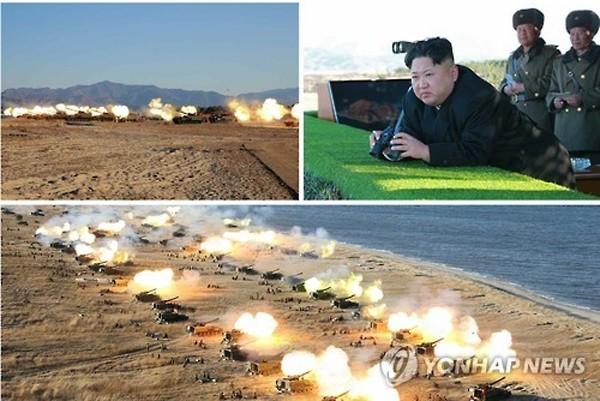 Pháo binh Triều Tiên diễn tập tấn công Hàn Quốc - ảnh 1