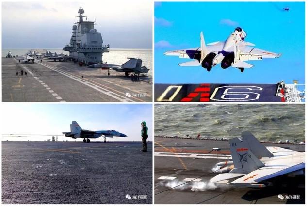 Trung Quốc công bố hình ảnh tàu sân bay diễn tập ở Biển Đông - ảnh 6