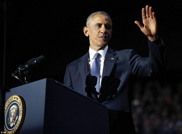 Những hình ảnh khó quên tại buổi lễ chia tay của Tổng thống Obama - ảnh 4
