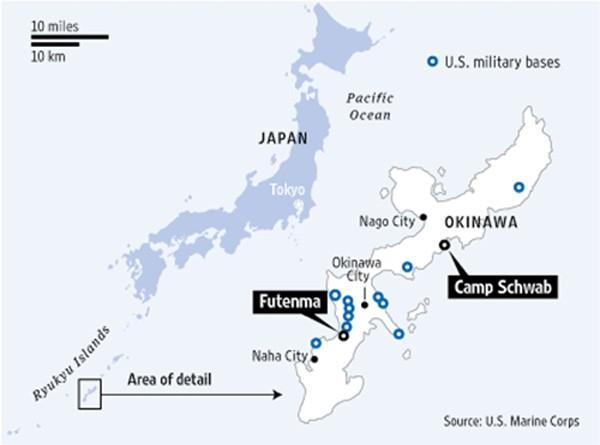 Nhật Bản tái bố trí căn cứ quân sự Mỹ ở Okinawa - ảnh 1