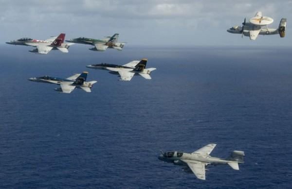 Mỹ có thể loại biên hai không đoàn tàu sân bay vì thiếu kinh phí - ảnh 1