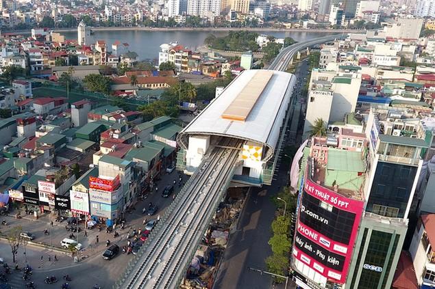Trải nhiệm Hà Nội từ trên cao qua đường sắt đô thị Cát Linh - Hà Đông - ảnh 5