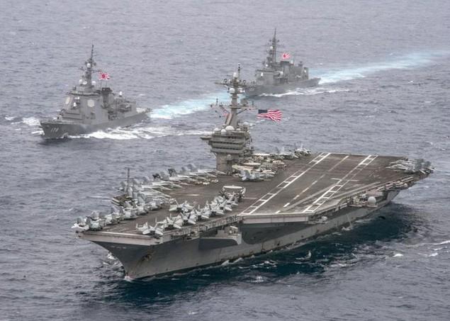 Cận cảnh tàu sân bay Mỹ trên đường tới bán đảo Triều Tiên - ảnh 4
